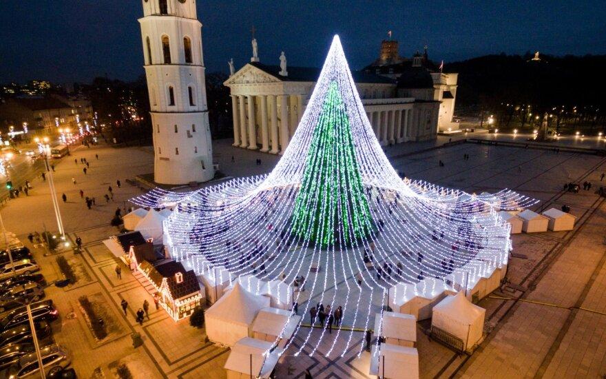 Vilniaus kalėdinė eglė – tarp pasaulio gražiausiųjų