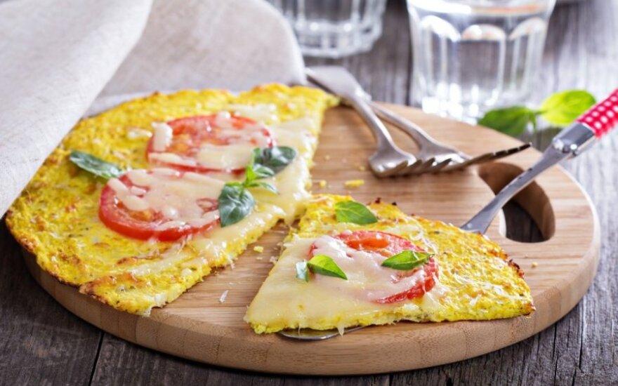 ORIGINALI daržovių pica - tinka dietai