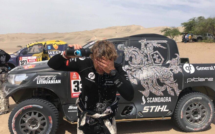 Benediktas Vanagas finišavo 2019 Dakaro antrame greičio ruože