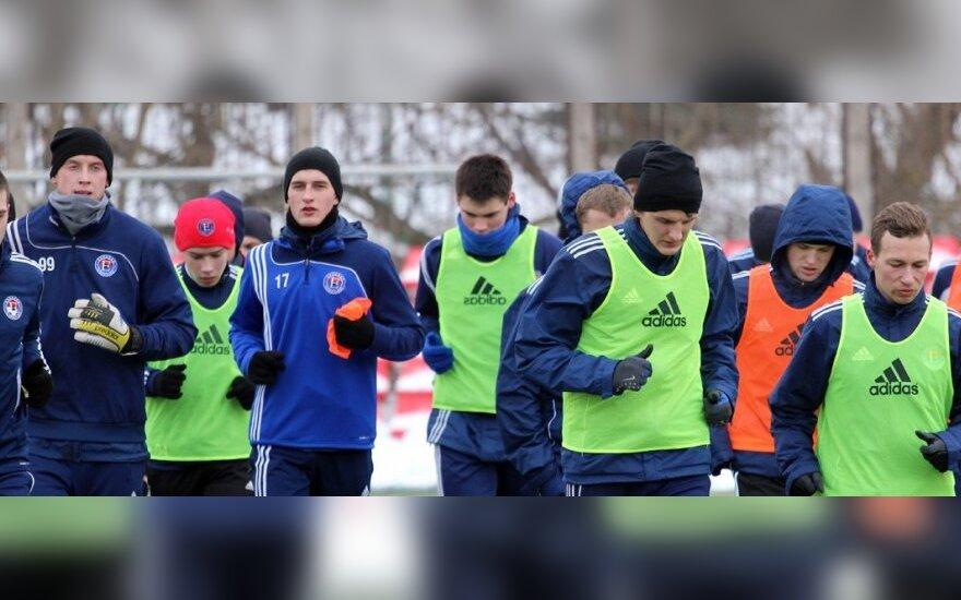 """""""Ekrano"""" futbolininkų treniruotė"""