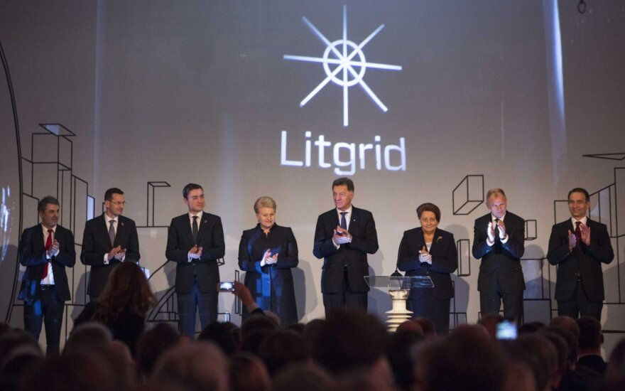 Lithuanian and Baltic leaders inaugurating power interconnections