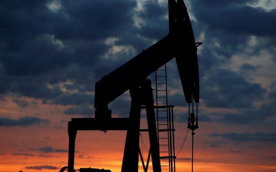 Išaugus JAV naftos atsargoms, naftos kainos patraukė žemyn