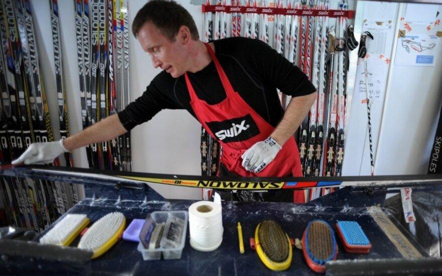 Slidžių tepėjai Sočyje yra svarbesni nei treneriai