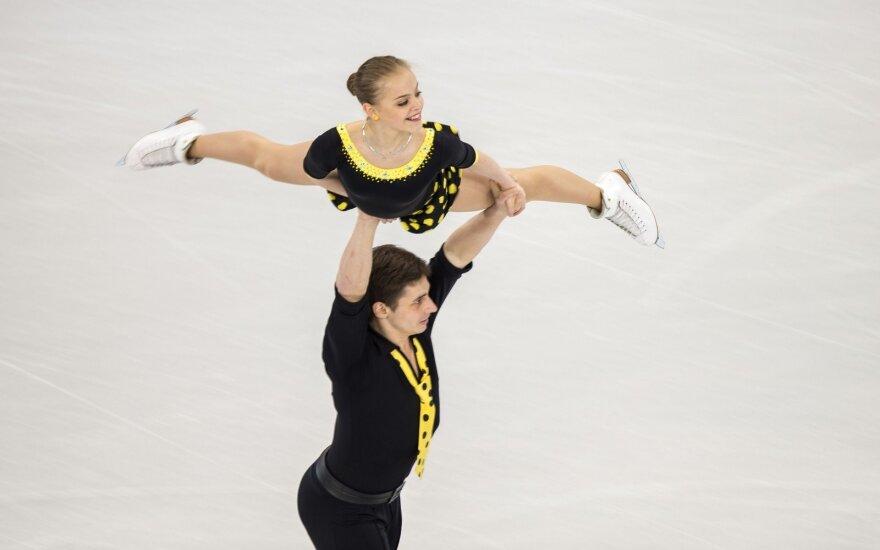 Čiuožėja G. Butkutė ir N. Jermolajevas Europos čempionate liko 18-i