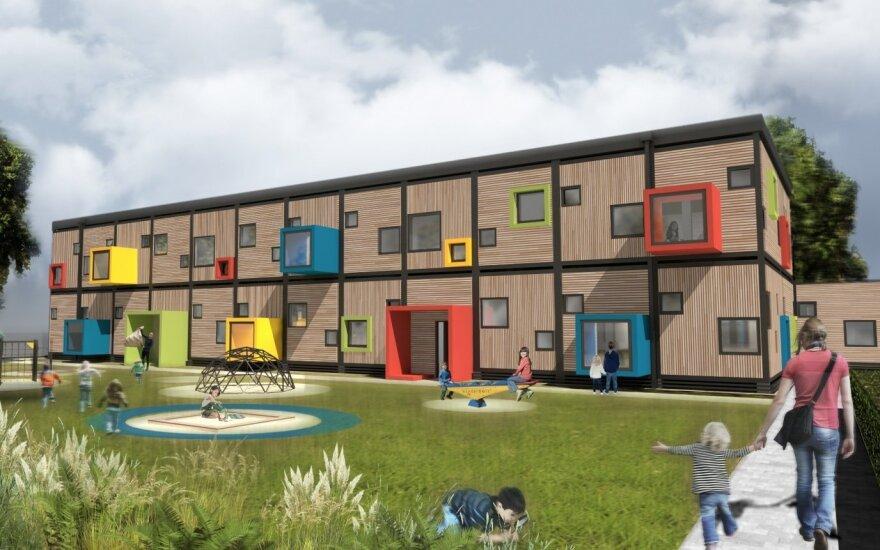 Naujas modulinės statybos darželis