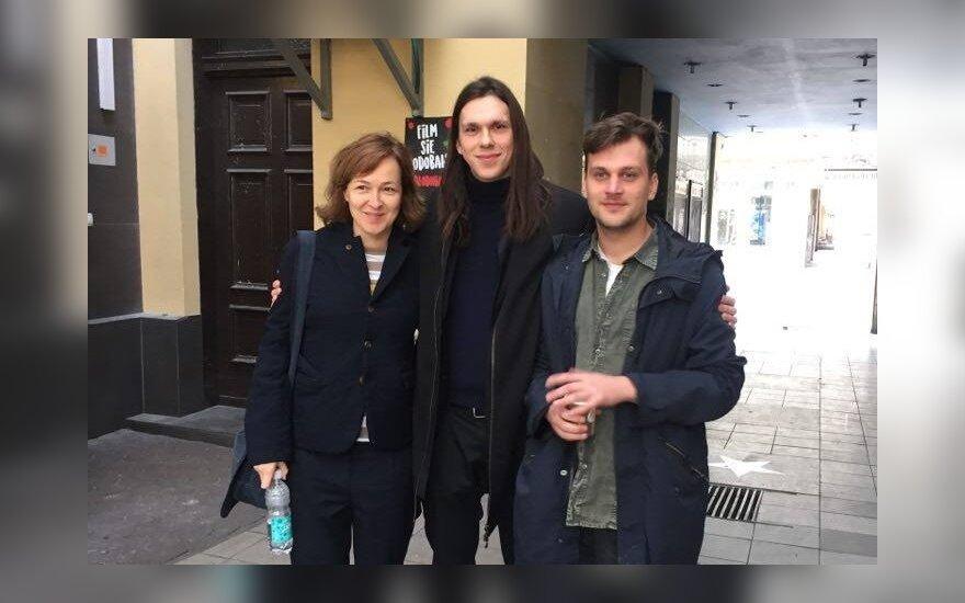 Saulius Baradinskas, Titas Laucius ir Britta Krause Poznanėje