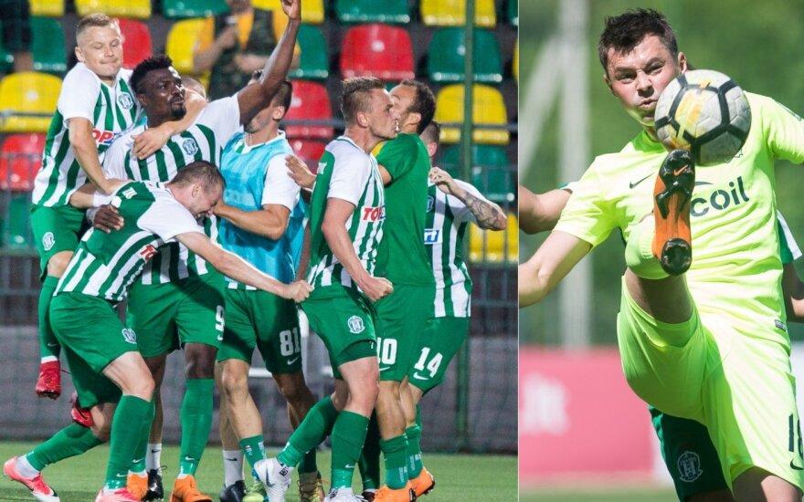 """Vilniaus """"Žalgirio"""" ir """"Trakų"""" komandos kovos UEFA Europos lygoje"""