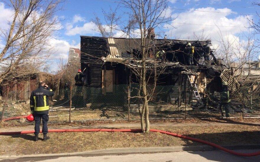 Kaune sudegė namas