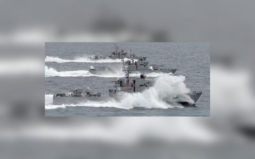 Apsišaudė Pietų ir Šiaurės Korėjų karo laivynai