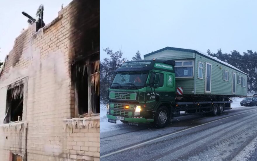 Po viską nusiaubusio gaisro Šabūnų šeima iš svetimų žmonių tokios reakcijos nesitikėjo