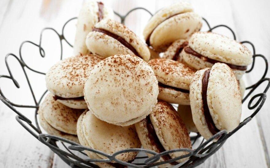 Oriniai sausainiai su šokoladiniu kremu
