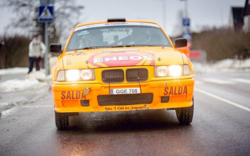 K. Raišys žiemos ralyje Halls Winter Rally