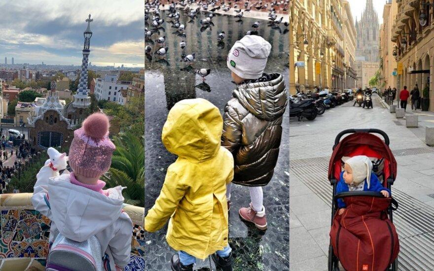 Keliaujančios mamos Barselonoje