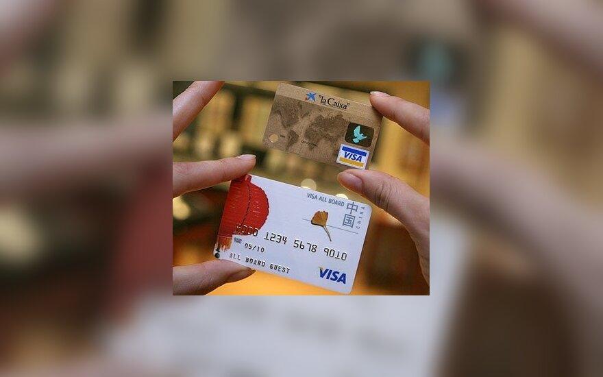 Kiek saugios bankų kortelės