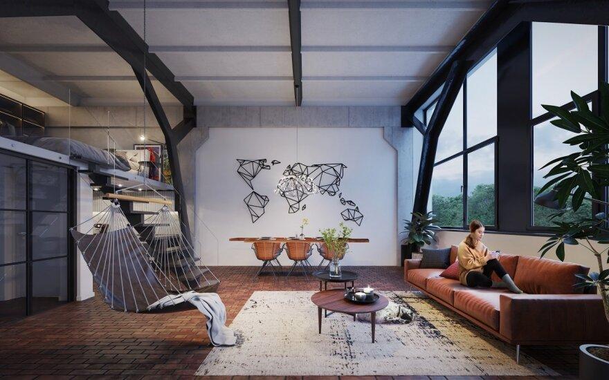 Vilniuje plėtojamas naujas loftų projektas: įvardijo, kas galės įpirkti