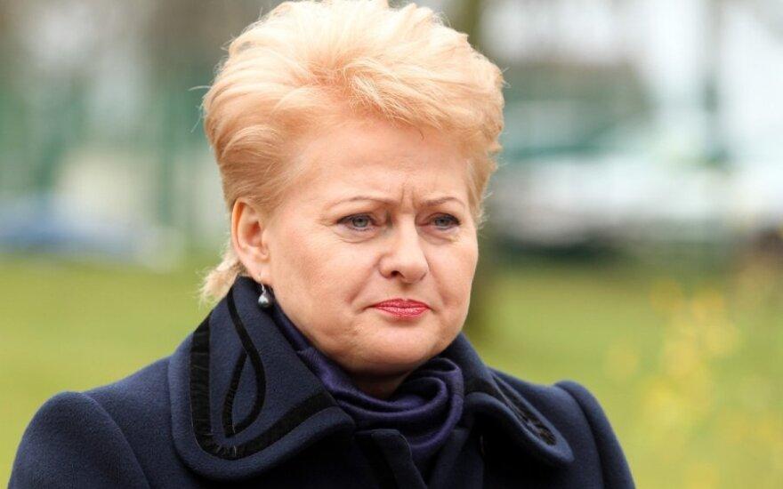 D. Grybauskaitė: nutekinti pažymos iš Prezidentūros niekas negalėjo
