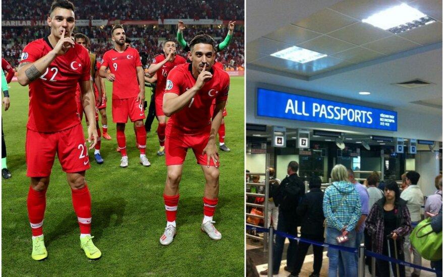 Turkijos futbolininkai buvo įstrigę Reikjaviko oro uoste