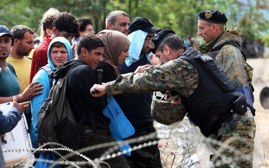 Immigrants on the EU border