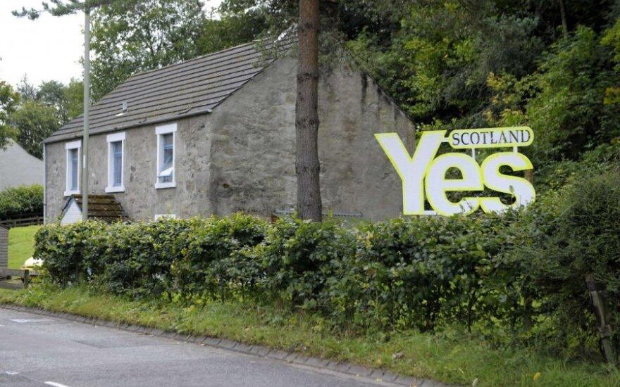 Apklausa: Škotijos nepriklausomybės populiarumas didėja