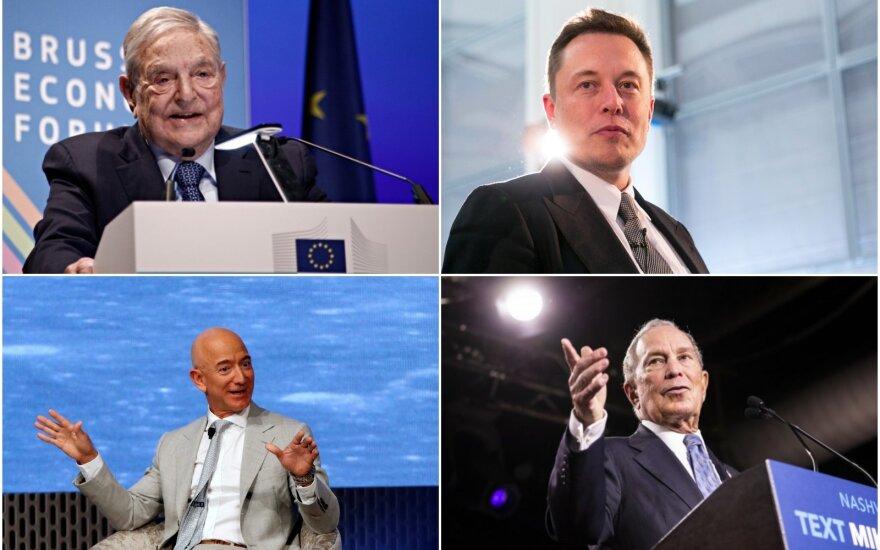 Pasaulio milijardieriai: Soros, Musk, Bezos, Bloomberg