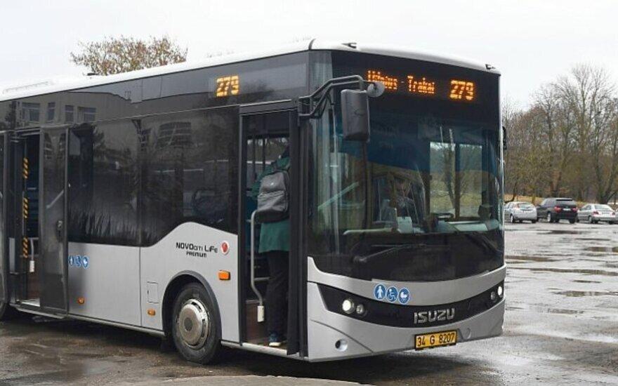 Naujas Trakų autobusas // Sigitos Nemeikaitės nuotr.