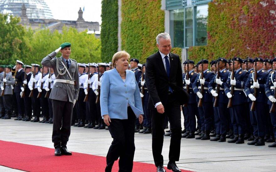 """Spaudos konferencijoje Berlyne – Nausėdos perspėjimas dėl """"Nord Stream 2"""""""