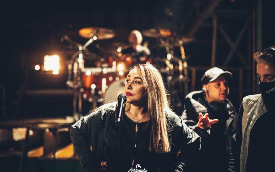 Džordana Butkutė pristato muzikinį filmą /Foto: Laurynas Trimonis