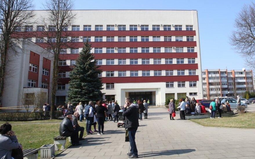 Galimai užminuota Kalniečių poliklinika