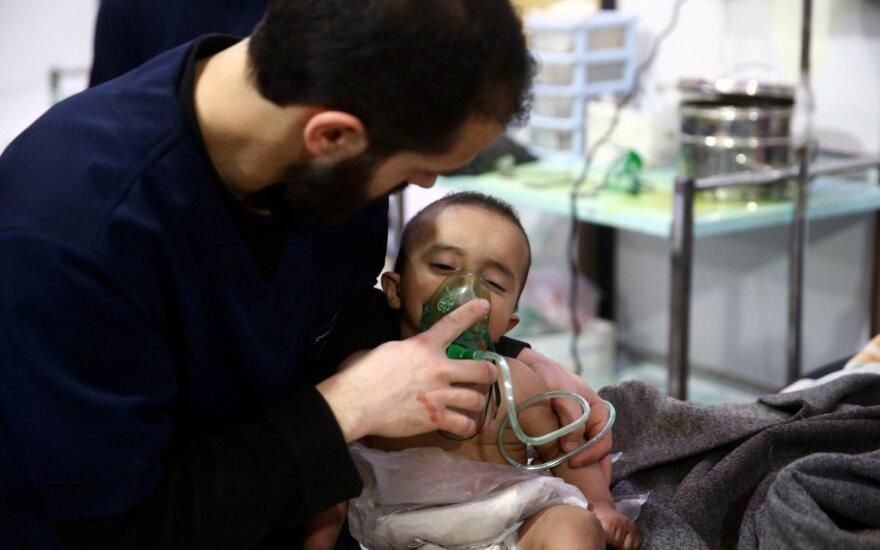 Sirijoje galimai įvykdyta chloro ataka