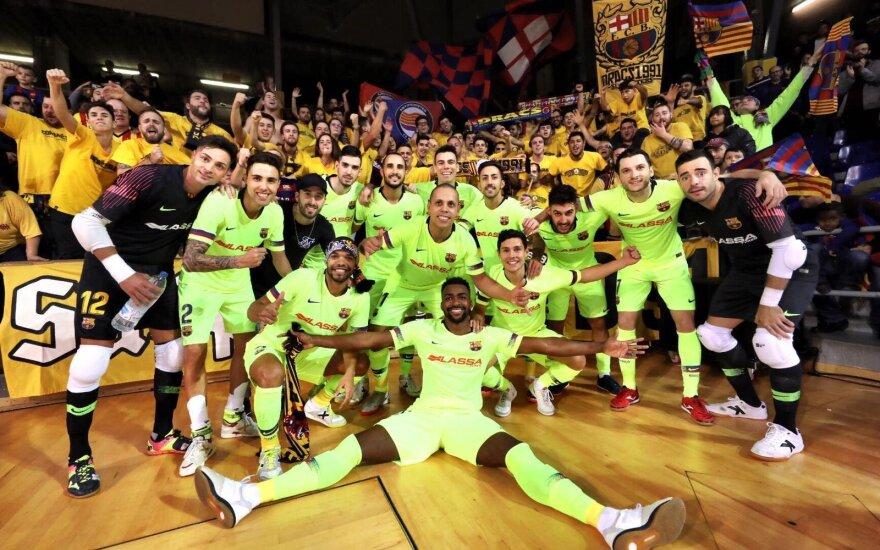 """Salės futbolo """"Barcelona"""" komanda (klubo nuotr.)"""
