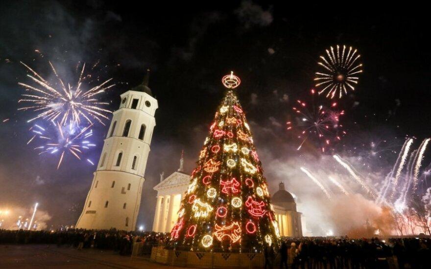 Lietuva sutiko Naujuosius metus