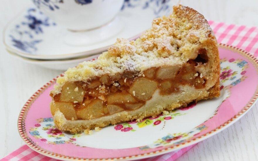 Obuolių pyragas su trupiniais