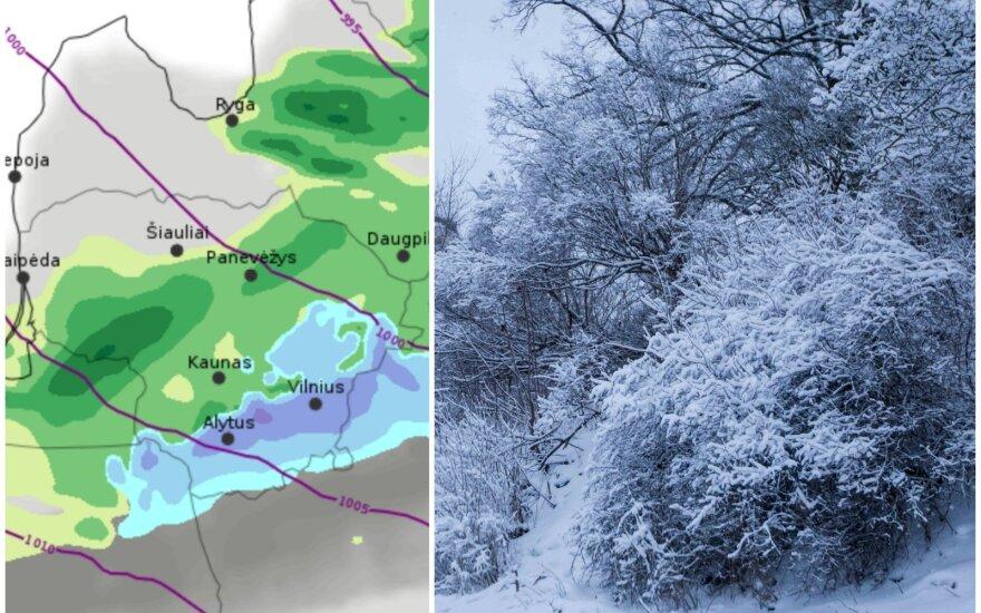 Sinoptikai įspėjo, ko laukti Naujųjų naktį: artėjant vidurnakčiui temperatūra sparčiai kris