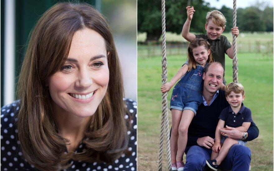 Kate Middleton ir princas Williamas su vaikais