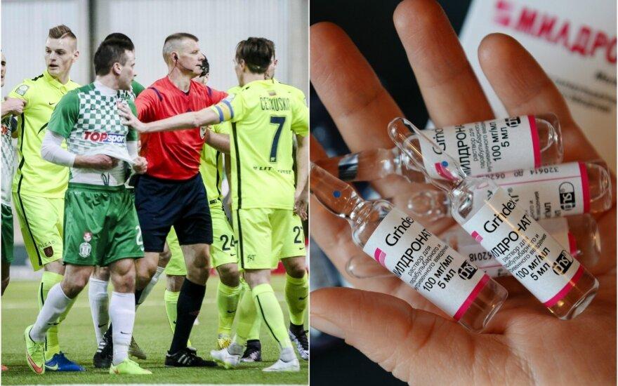 Dopingo kontrolė meldoniumo futbolininkų mėginiuose aptiko po LFF Supertaurės rungtynių