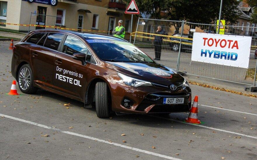 Geriausio Lietuvos vairuotojo konkurso akimirka