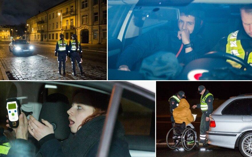 Naktis sostinėje: vyras pagalbos šaukėsi iš bagažinės, per reidą įkliuvo neįgalusis ir mergina