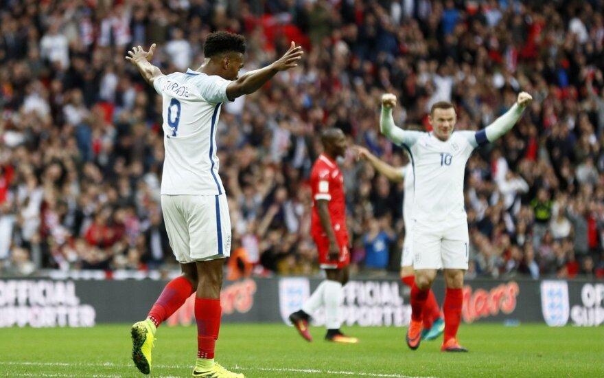 Atrankoje į pasaulio čempionatą – Anglijos, Lenkijos ir Vokietijos rinktinių pergalės