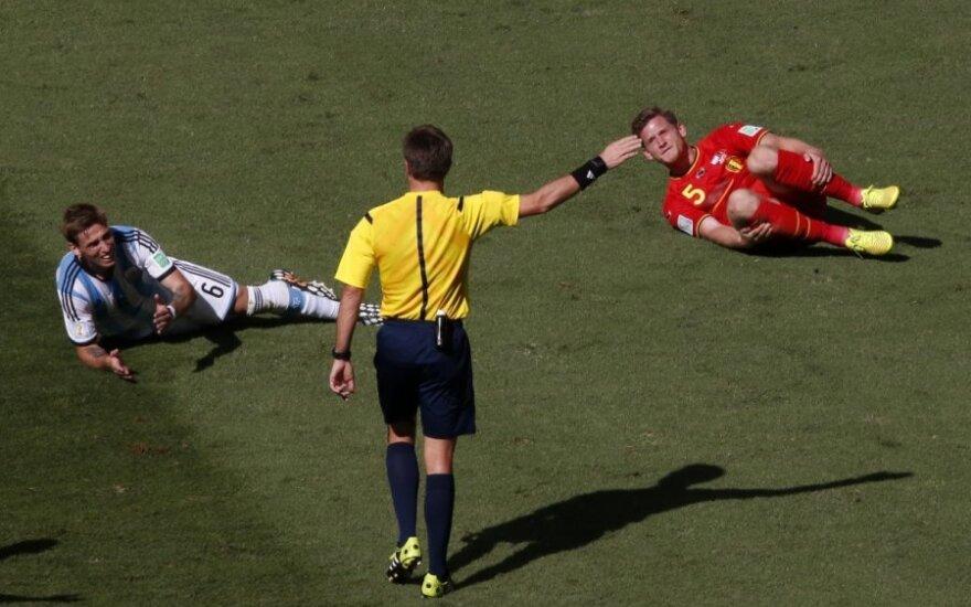 Nicola Rizzoli pasaulio čempionate teisėjaus trečioms argentiniečių rungtynėms
