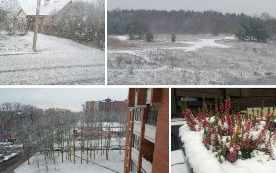 Siųsk! Pirmasis sniegas – jau Lietuvoje!