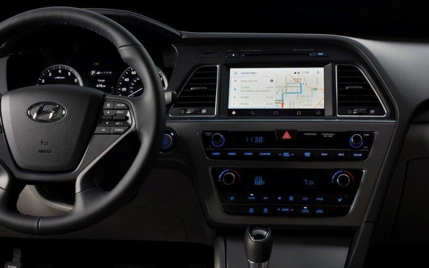 Android Auto sistema Hyundai automobilyje