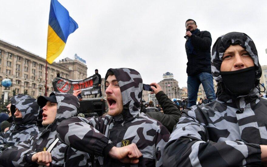 Ukrainoje protestuota prieš korupciją gynybos sektoriuje