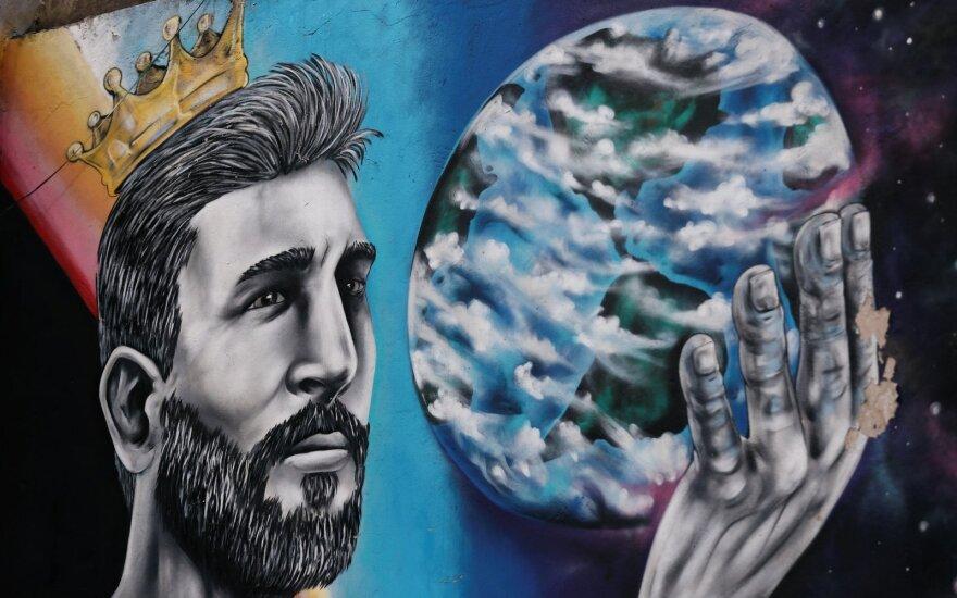Lionelio Messi grafitis Argentinoje