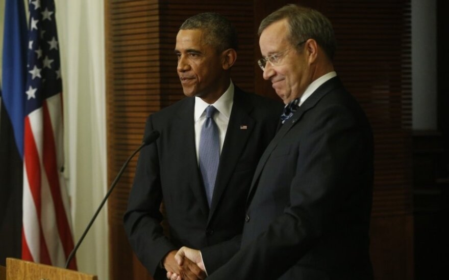 Barack Obama and Toomas Hendrik Ilves