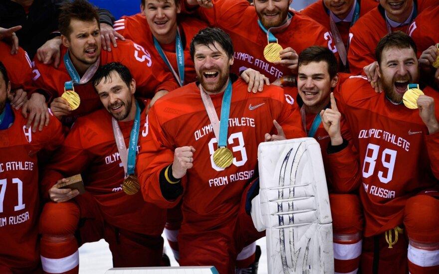 Rusijos ledo ritulininkai - olimpiniai čempionai