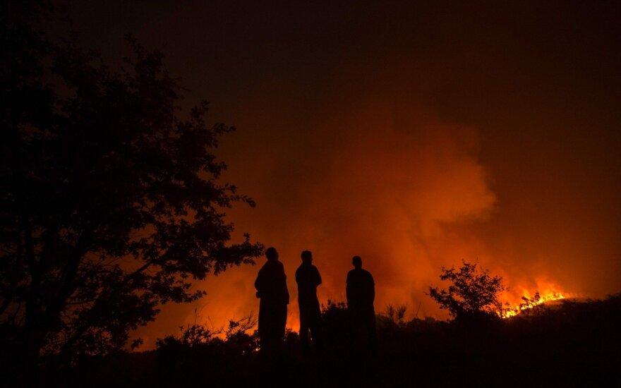 Portugalijoje miškų gaisrai siautėja Algarvės regione