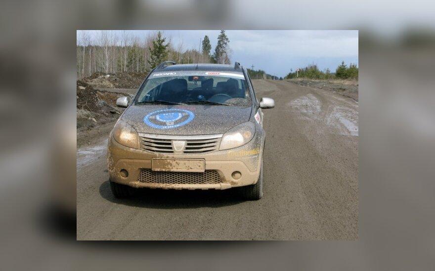 V.Milius važiuoja Dacia Sandero Stepway