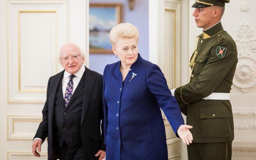 Dalia Grybauskaitė, Michaelas D. Higginsas