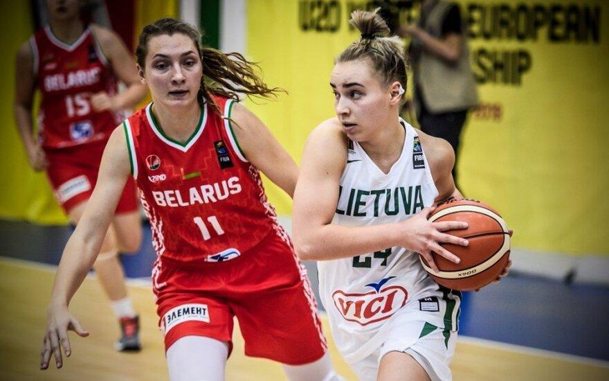 Lietuvos merginos Europos čempionate įveikė baltaruses
