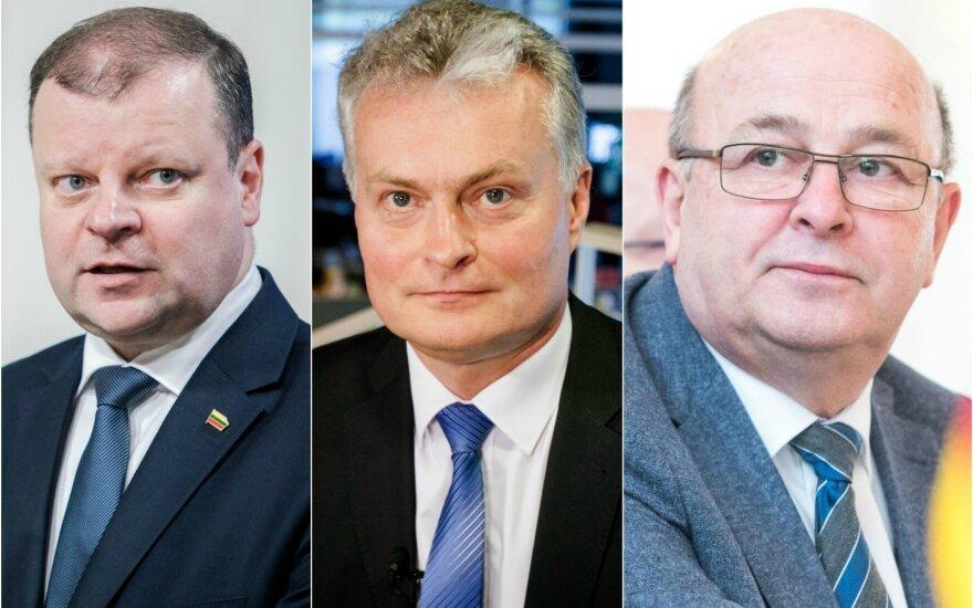 Saulius Skvernelis, Gitanas Nausėda and Visvaldas Matijošaitis